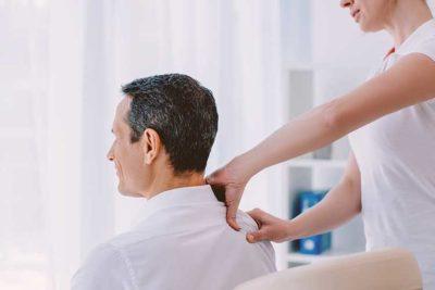Man getting office massage