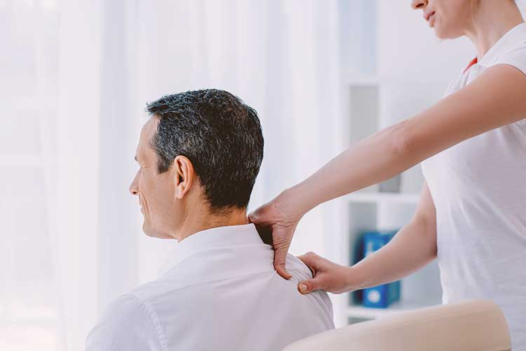 Man getting office massage